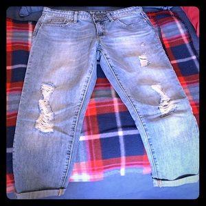 GAP💙Sexy Boyfriend cropped jeans
